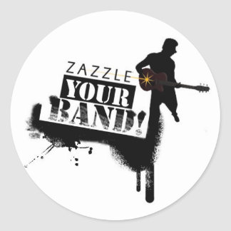 Zazzle Your Band Classic Round Sticker