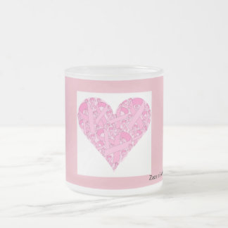 ZazzleForBreastCancer Frosted Glass Coffee Mug