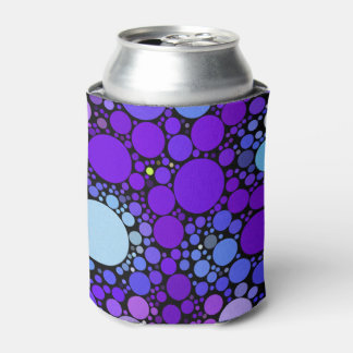 Zazzy Bubbles, blue Can Cooler