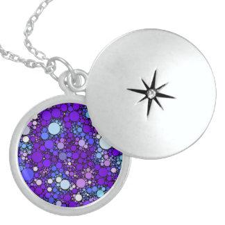 Zazzy Bubbles, blue Locket Necklace