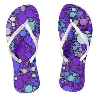 Zazzy Bubbles, blue Thongs