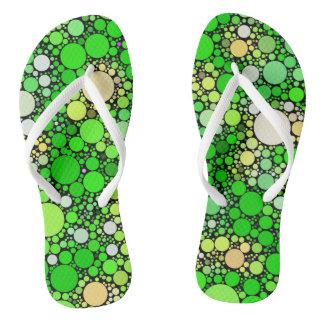 Zazzy Bubbles,green Thongs