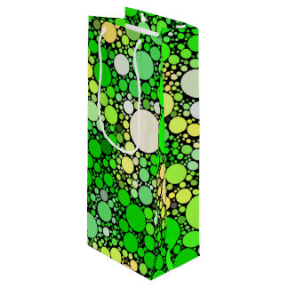 Zazzy Bubbles,green Wine Gift Bag
