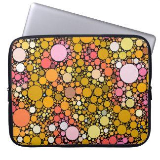 Zazzy Bubbles,orange Laptop Sleeve