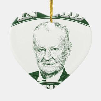 Zbigniew Brzezinski in God We trust Ceramic Ornament