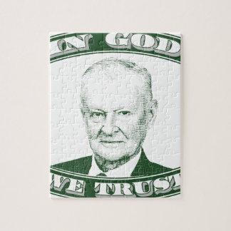 Zbigniew Brzezinski in God We trust Jigsaw Puzzle