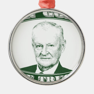 Zbigniew Brzezinski in God We trust Metal Ornament