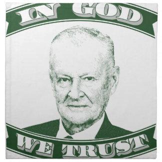 Zbigniew Brzezinski in God We trust Napkin