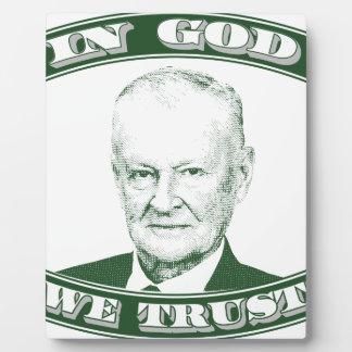 Zbigniew Brzezinski in God We trust Plaque