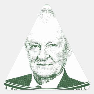 Zbigniew Brzezinski in God We trust Triangle Sticker