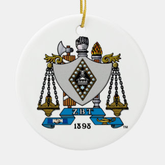 ZBT Crest Color Ceramic Ornament