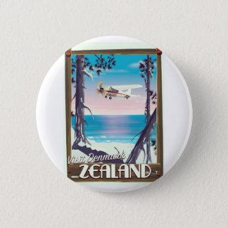 Zealand Denmark travel poster 6 Cm Round Badge