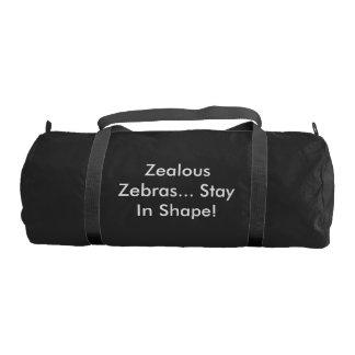 Zealous Zebras Stay In Shape Gym Bag Gym Duffel Bag
