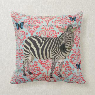 Zeb Boho Blue Butterflies Damask  Mojo Pillow Throw Cushions