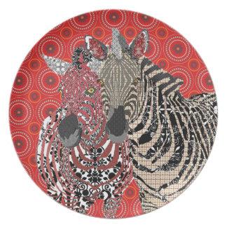 Zeb & Zenya Red Plate
