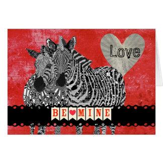 Zeb & Zenya Retro Red Love Valentine Greeting Card