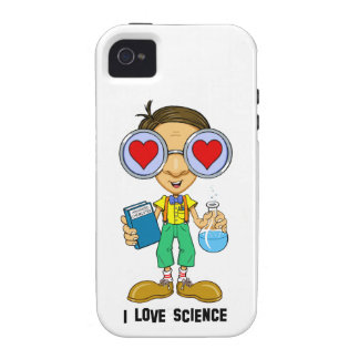 Zebart (I love Science)The Hollyweirdos Collection iPhone 4 Case