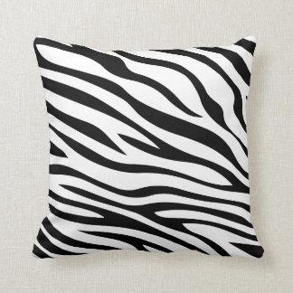 Zebbra Stripes Black and White Cushion