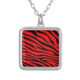 Zebbra Stripes Red Custom Necklace