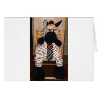 Zebra #1 greeting card