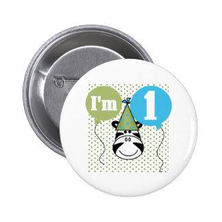 Zebra 1st Birthday 6 Cm Round Badge