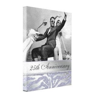 Zebra 25th Anniversary Photo Canvas Silver