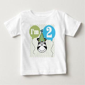 Zebra 2nd Birthday Baby T-Shirt