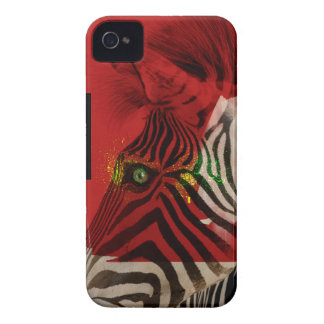 Zebra 4.0 Abstract Contemporary Art iPhone 4 Cases