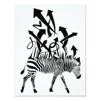 Zebra Abstract Design 11 Cm X 14 Cm Invitation Card