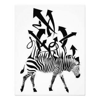 Zebra Abstract Design Personalized Invitation