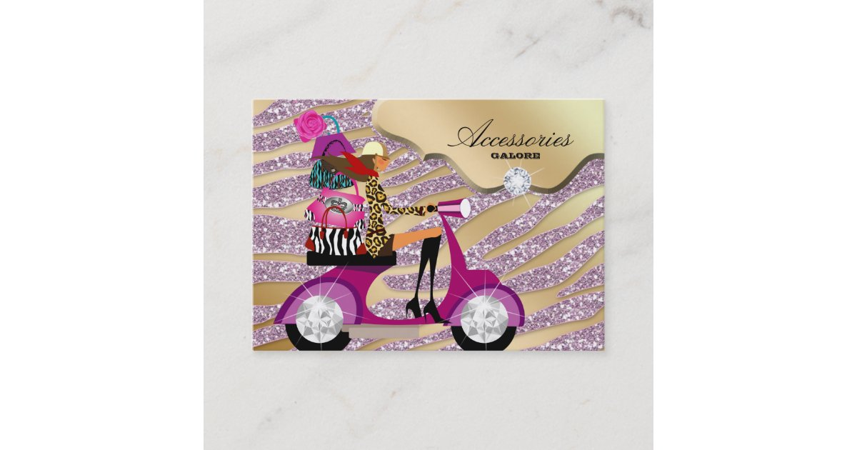 craft ideas for grandparents zebra accessories purse jewellery gold pink business card 3848