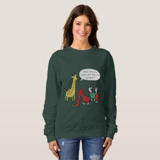 Zebra and Giraffe Christmas Jumper | Classic Comic Sweatshirt