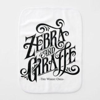 ZEBRA AND GIRAFFE THE WISEST ONES BABY BURP CLOTH