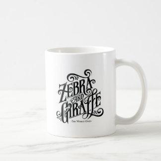 ZEBRA AND GIRAFFE THE WISEST ONES COFFEE MUG
