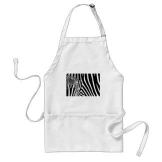 Zebra and it's stripe aprons