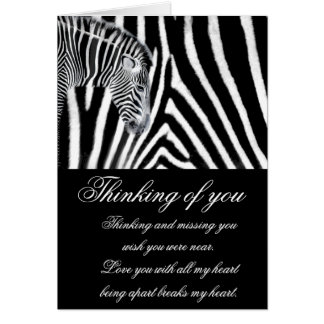 Zebra and it's stripe greeting cards