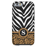 Zebra and Leopard Monogram