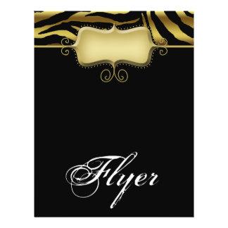 Zebra Animal Flyer Salon Spa Gold Black