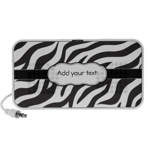 Zebra animal print Doodle Speaker System