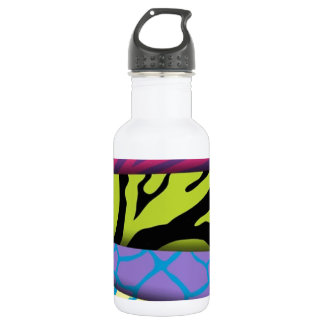 Zebra Animal Print Various Colors Add Text 532 Ml Water Bottle