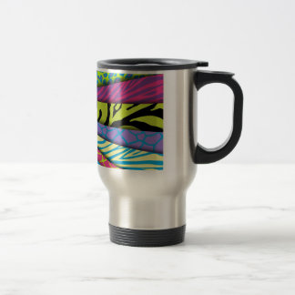 Zebra Animal Print Various Colors Add Text Coffee Mug