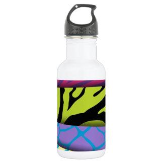 Zebra Animal Print Various Colors Add Text 532 Ml Water Bottle