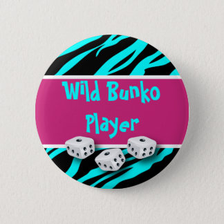 Zebra Animal Print Wild Bunko Player 6 Cm Round Badge