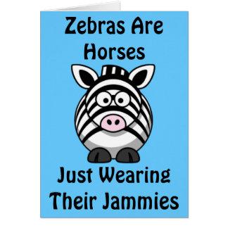Zebra Art Card