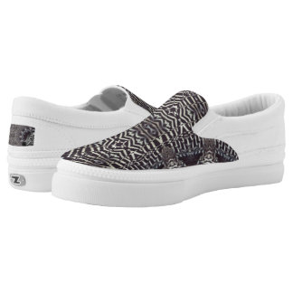Zebra Art Custom Zipz Slip On Shoes