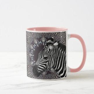 Zebra Art Pink Combo Mug