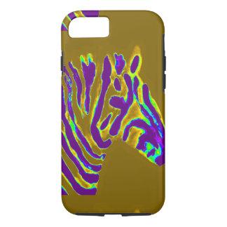 Zebra Art Purple Glow iPhone 7 Case