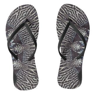 Zebra Art Slim Straps Flip Flops