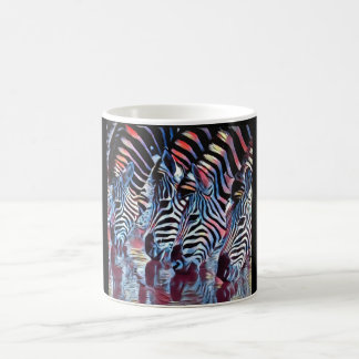 Zebra at Watering Hole Coffee Mug