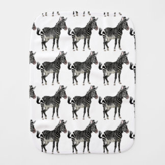 Zebra Baby Burp Cloth